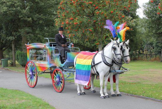 rainbow hearse leicester
